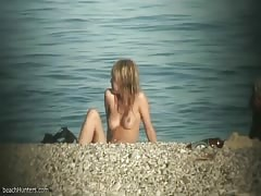 Nudist teen sunbathing
