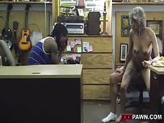 Hot emo latina milf gets fuck in office while her boyfriend takes it on camera