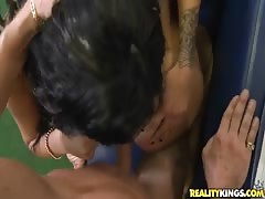 Awesome babes having sweet threesome in Money Talks video