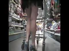 shopping upskirt no panty part 2